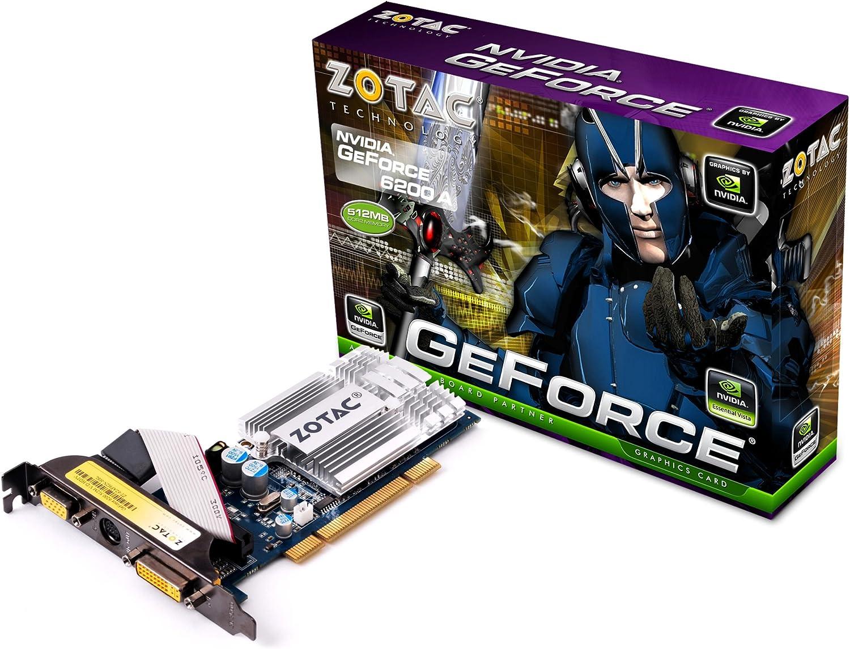 PCI-e, Memoria de 512 MB GDDR2, DVI Tarjeta gr/áfica NVIDIA Zotac GeForce 6200