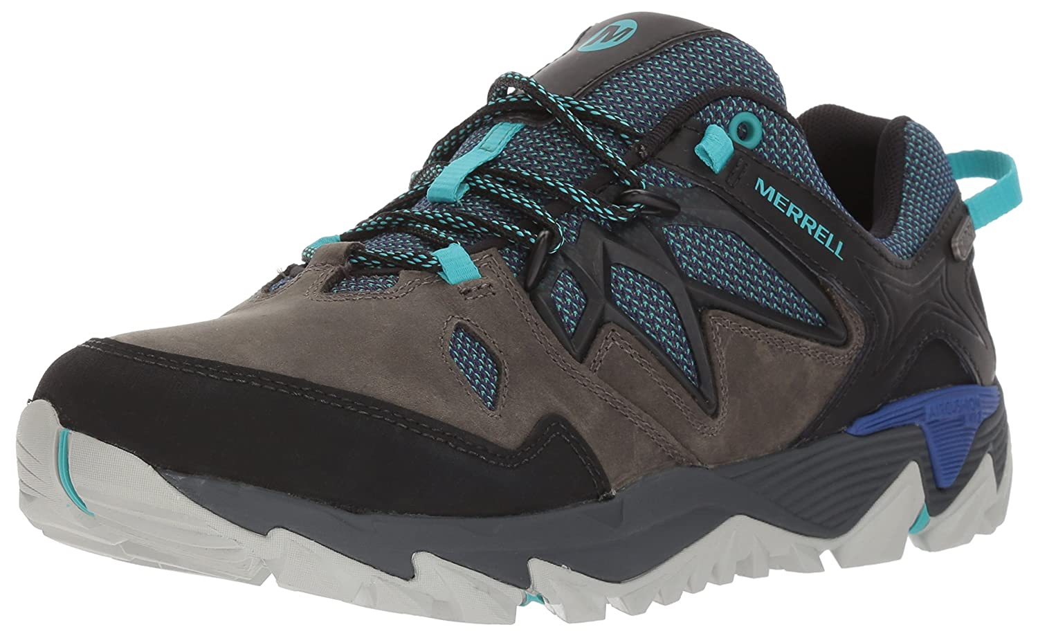 Merrell Women's All Out Blaze 2 Waterproof Hiking Shoe B01MU0I5KE 5 B(M) US|Pewter/Mazarine Blue