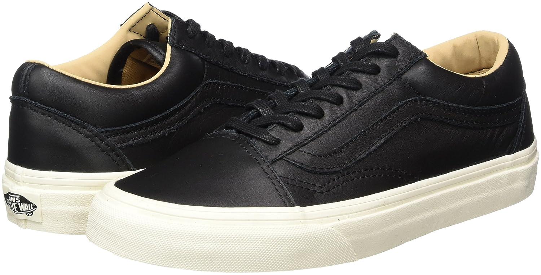 Vans Unisex Old Skool Classic Skate Shoes B06Y5F7BR1 8 M US Women / 6.5 M US Men Lux Leather Black Porcini