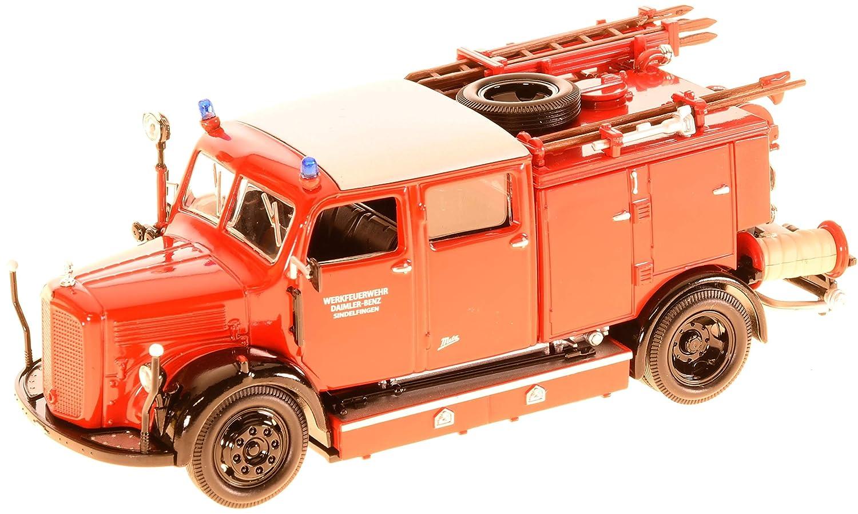 Lucky Die Cast 43013 Mercedes TLF-50, Feuerwehr, 1950, rot Yat Ming