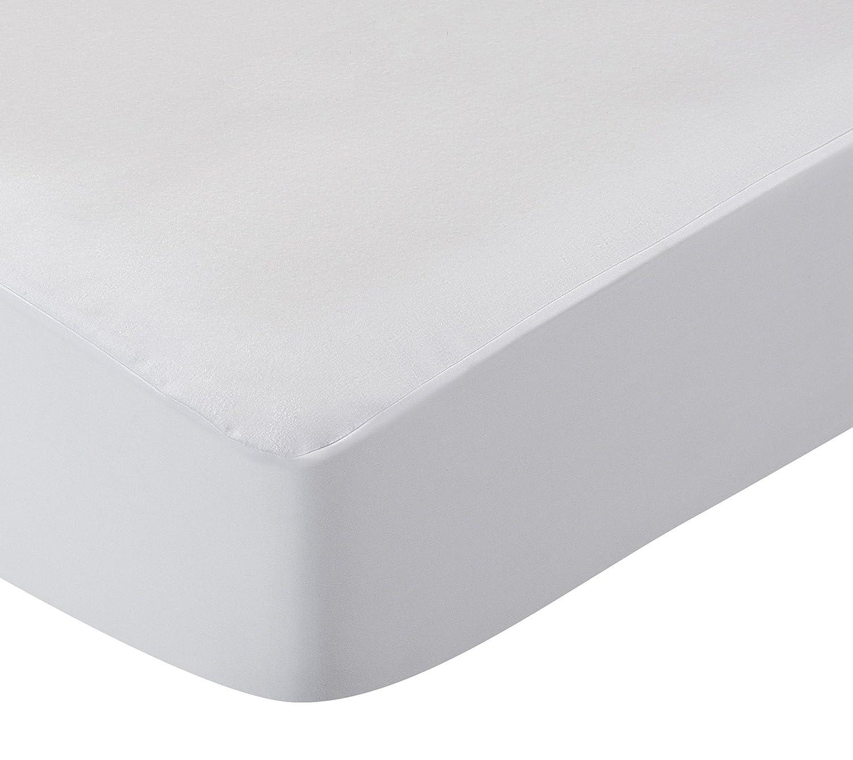 Pikolin Home - Protector de colchón de franela, antialérgico, antiácaros, antibacterias y antimoho, impermeable y transpirable, 100% algodón, ...