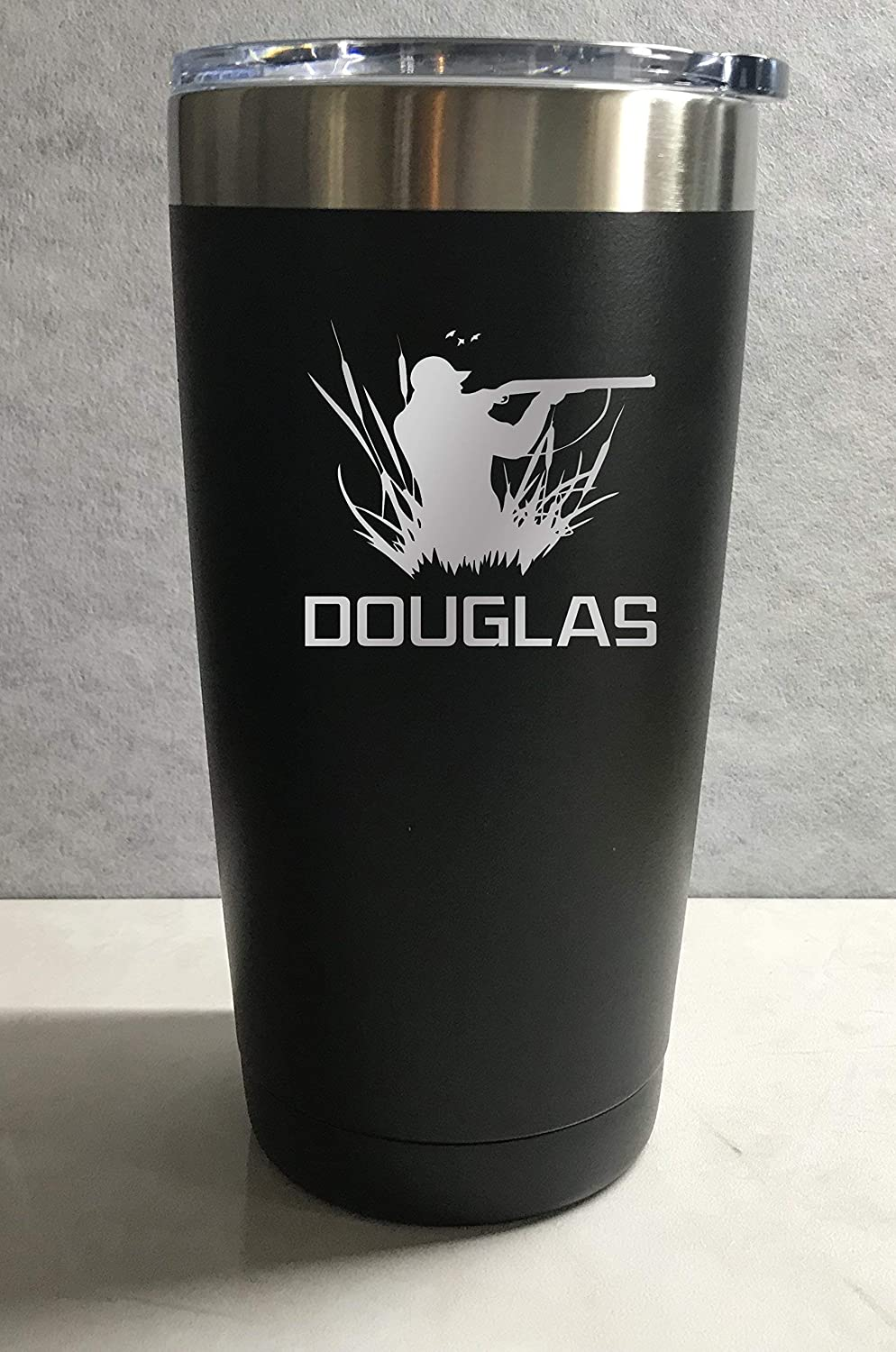 Shotgun Hunter Personalized Engraved Insulated Stainless Steel 20 oz Tumbler