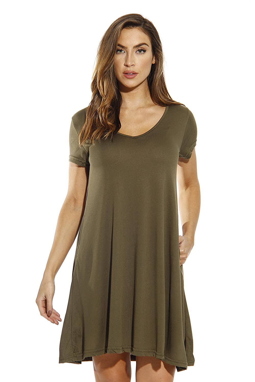 a254e8341c8 Just Love Modal Trapeze Dress Dresses for Women at Amazon Women s Clothing  store