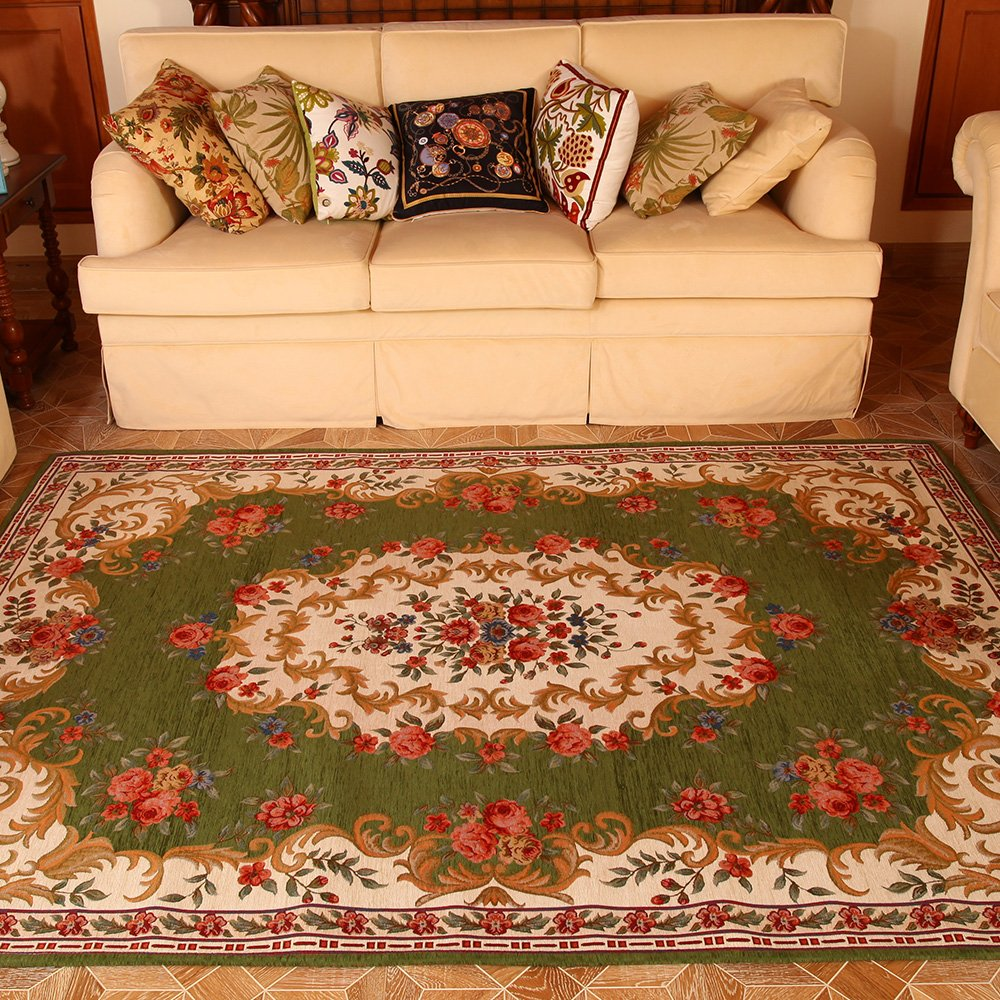 易普美家 美式田園地毯客廳茶幾布衣沙發地毯地中海歐式地毯臥室 床邊