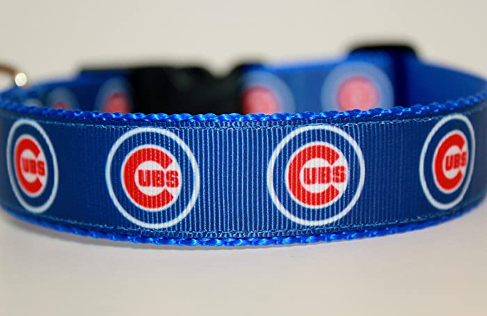 the latest 6fa7e 51504 Chicago Cubs Dog Collar | Baseball Dog Collar | Cubs Dog Collar | MLB Dog  Collar | Adjustable Dog Collar | Sport Dog Collars | Dogs