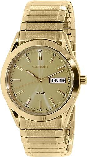 Seiko Men s SNE058 Gold Stainless-Steel Quartz Watch