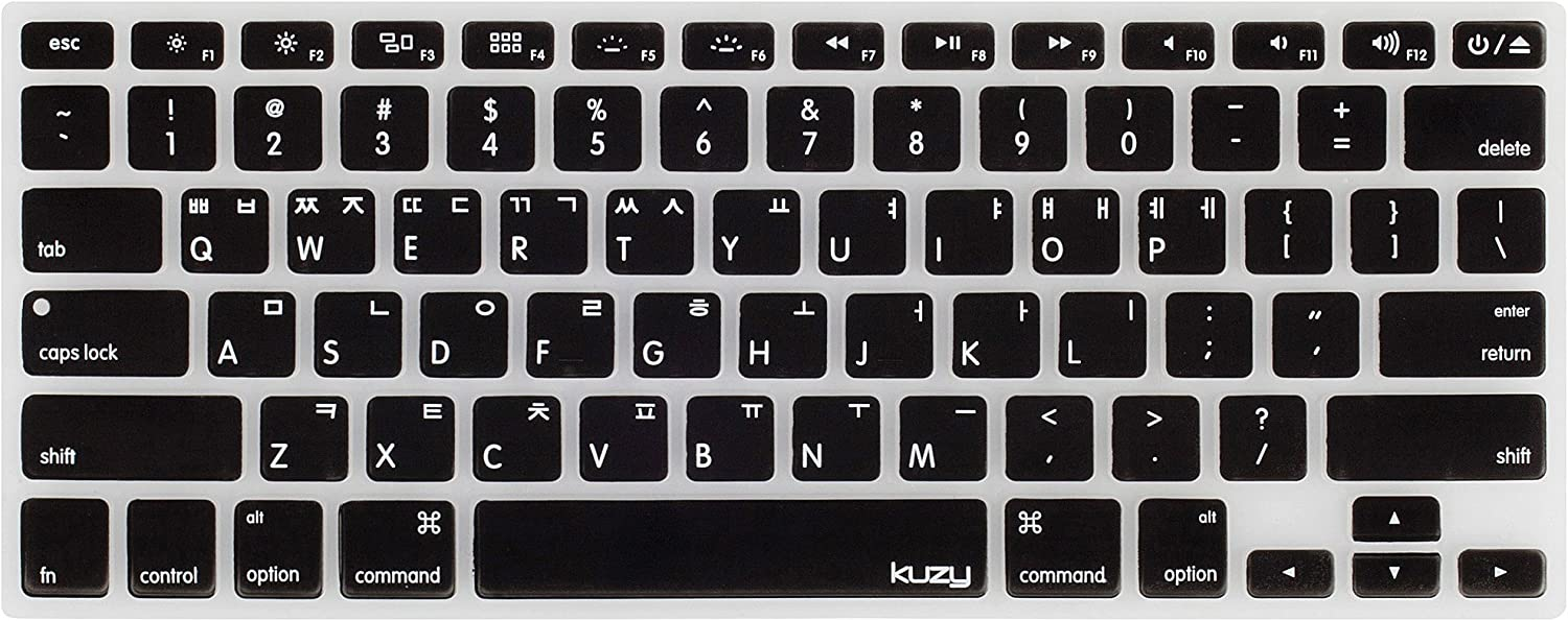 """Kuzy - Korean Language Keyboard Cover for MacBook Pro 13"""" 15"""" 17"""" (with or w/Out Retina Display) Silicone Skin for iMac and MacBook Air 13"""" - Korean/English"""
