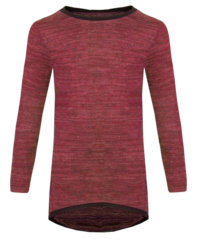 Girls Long Sleeve Plain Tunic Kids Long Top Maxi Dress Jumper