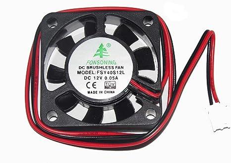 FSY40S12L 12 V 0,05 A 2Wire 4 cm ventilador humidificador ventilador cuadrado: Amazon.es: Electrónica