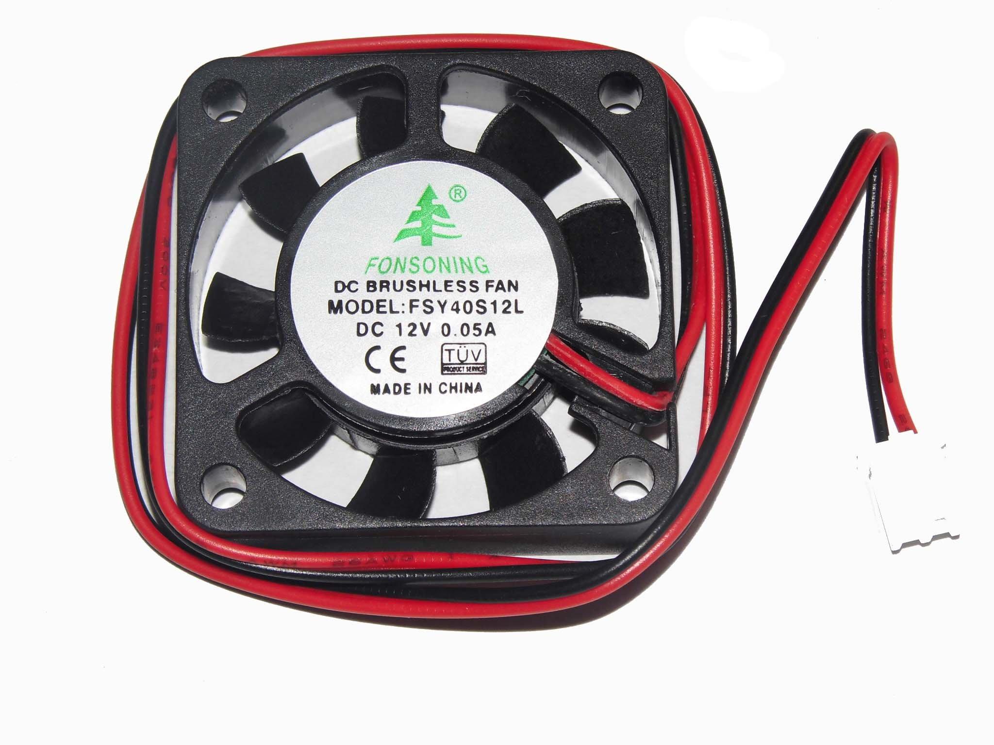 50pcs/Lots 4cm FSY40S12L 12V 0.05A 2Wire humidifier Fan 404010mm
