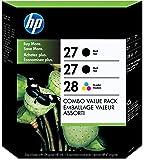 HP 27 Black & 28 Tri-color Original Ink Cartridges, 3 pack (C9343BN)