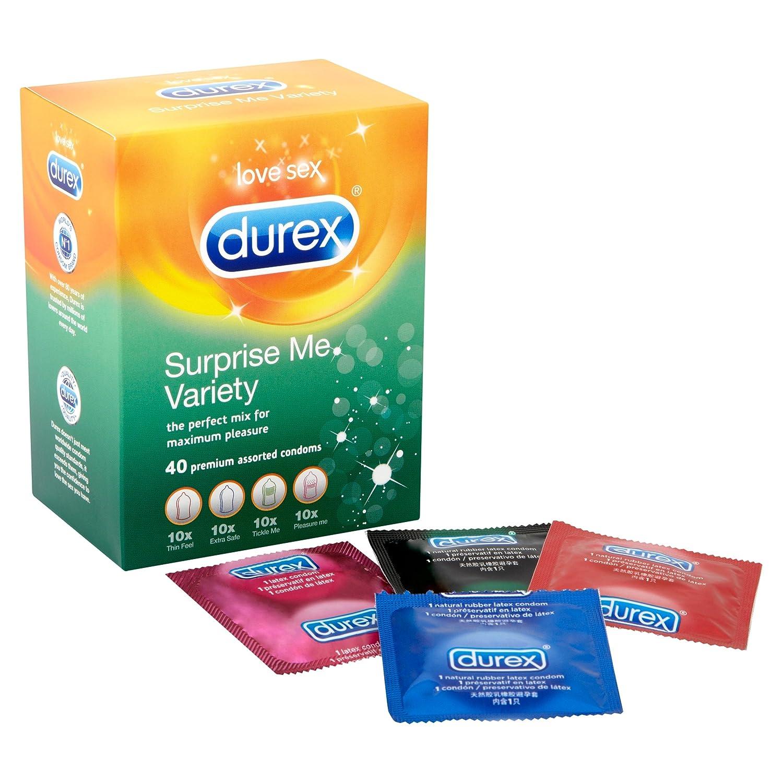 Durex Preservativos Surprise Me Variedad – Pack de 40