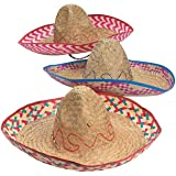 EMBROIDERED SOMBRERO (ADULT SIZE) (1 DOZEN) - BULK