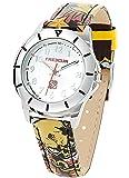 Freegun - EE5117 - Montre Garçon - Quartz Analogique - Cadran Argent - Bracelet Cuir Multicolore