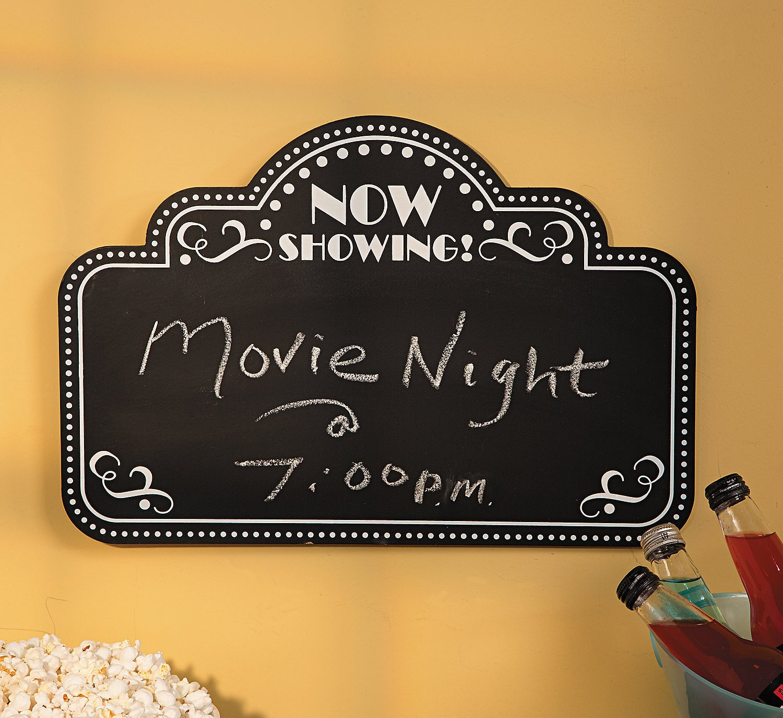 amazon com movie night chalkboard home decor office products