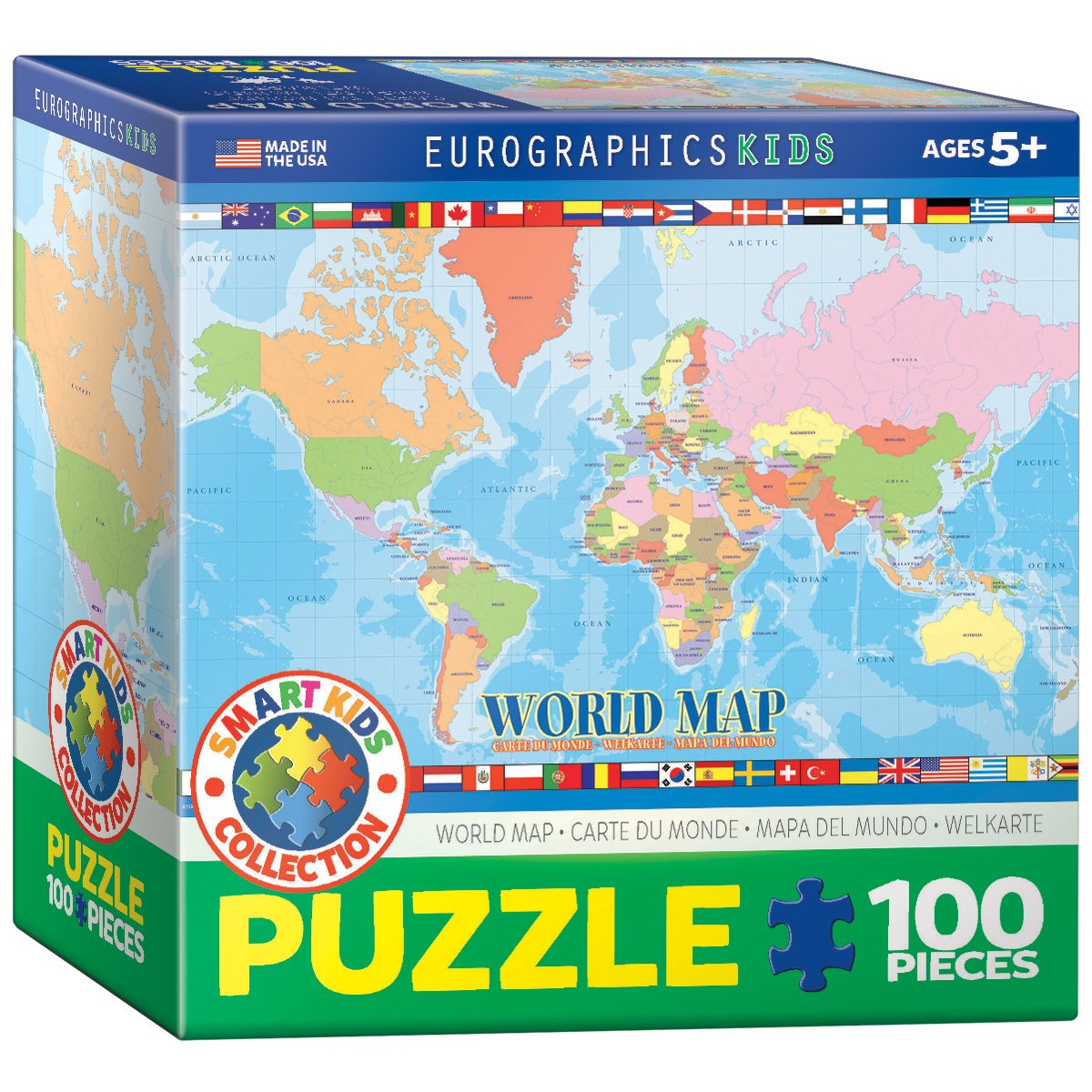 Eurographics world map for kids puzzle 100 piece amazon eurographics world map for kids puzzle 100 piece amazon toys games gumiabroncs Image collections