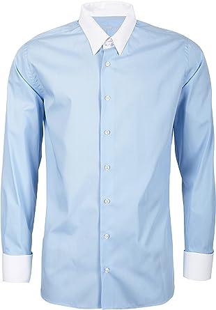 Schaeffer - Camisa formal - cuello tab - Manga Larga - para ...