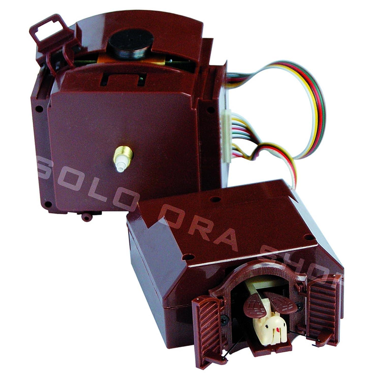 Cuckoo kit - Meccanismo orologio cu-cù al quarzo con pendolo con lancette plastica bianche Solo Ora shop