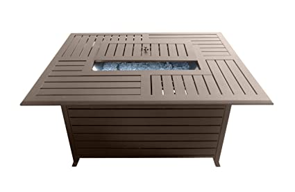 Superieur AZ Patio Heaters Fire Pit, Extruded Aluminum Rectangular