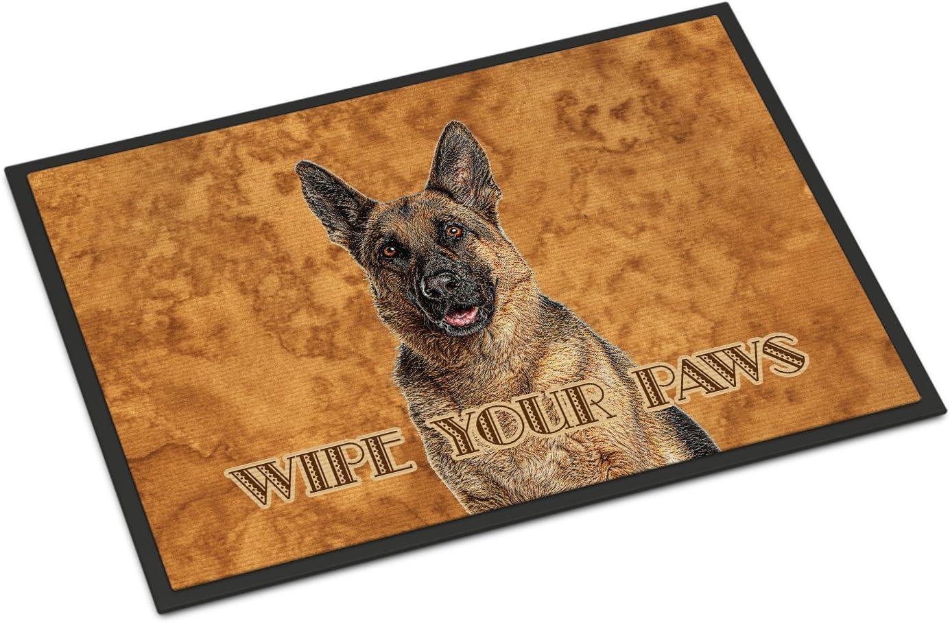 Caroline s Treasures KJ1222JMAT German Shepherd Wipe Your Paws Indoor or Outdoor Mat 24×36, 24H X 36W, Multicolor