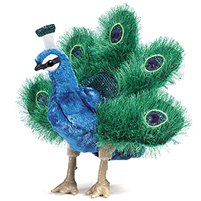 Folkmanis Small Peacock Hand Puppet: Toys & Games