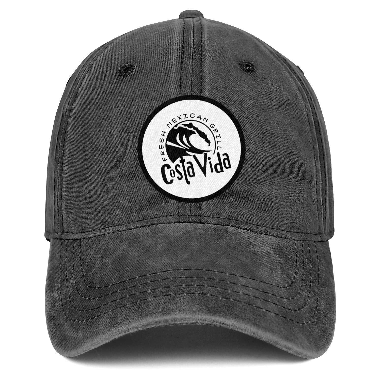 WintyHC Costa Vida Fresh Mexican Grill Logo Cowboy Hat Dad Hat One Size Gas Cap