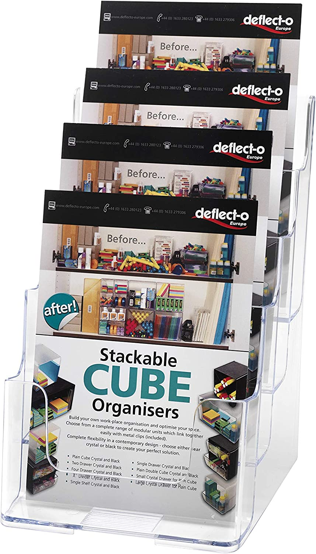 Deflecto 77901 Multi-Tier Letteratura Display Supporto per parete o desktop a 4 piani