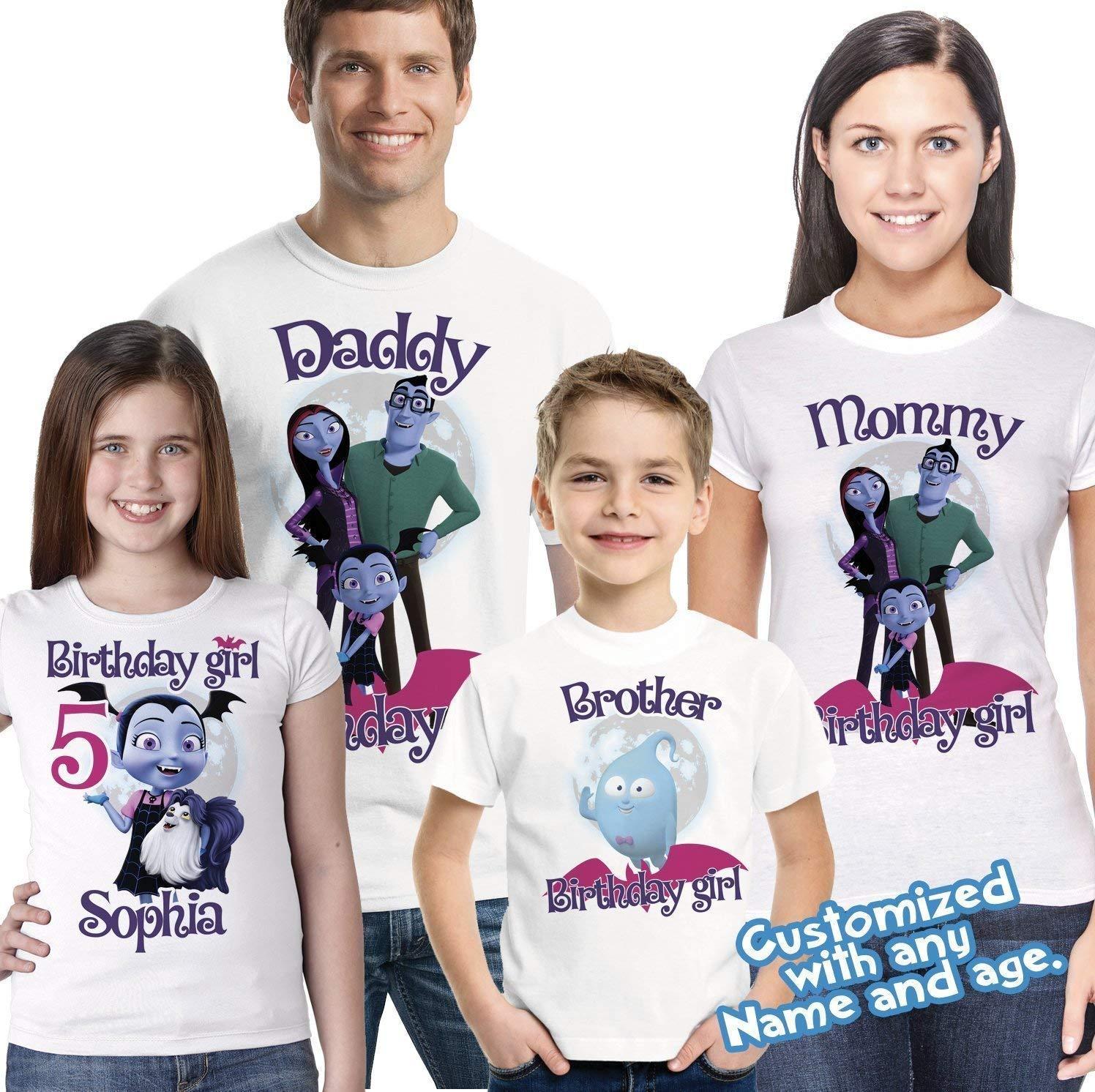 Vampirina Birthday Shirt add name and age, Vampirina Shirt, Vampirina Party shirt