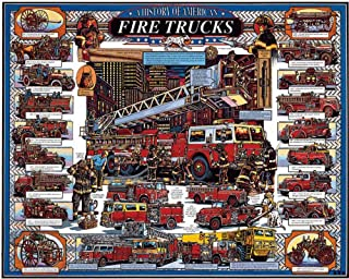 product image for White Mountain Puzzles American Fire Trucks