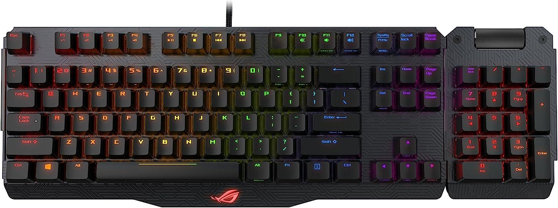 Asus ROG Claymore - Teclado gaming mecánico RGB con teclado numérico extraíble, Cherry MX (tipo interruptor), Aura Sync y construcción de metal de calidad aeronáutica