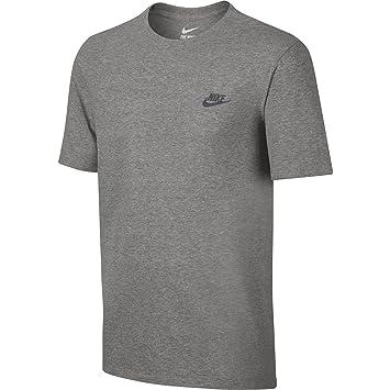 e3425a4e6532 Nike Herren Club Embroidered Futura T-Shirt, Grau (Dk Grey Heather   Cool