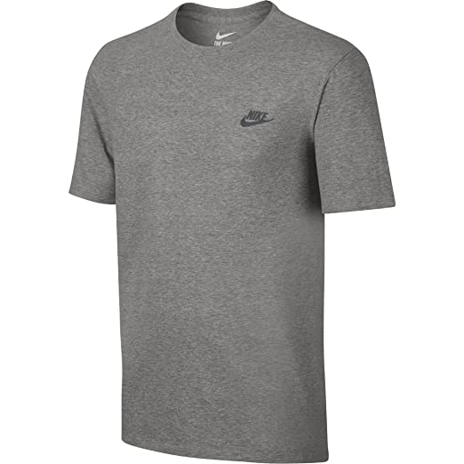 55f46f81 NIKE Sportswear Men's Club Embroidered Futura Tee, Dark Grey Heather/Cool  Grey, X