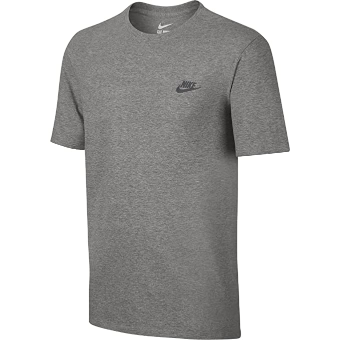 f40b689c NIKE Sportswear Men's Club Embroidered Futura Tee, Dark Grey Heather/Cool  Grey, X