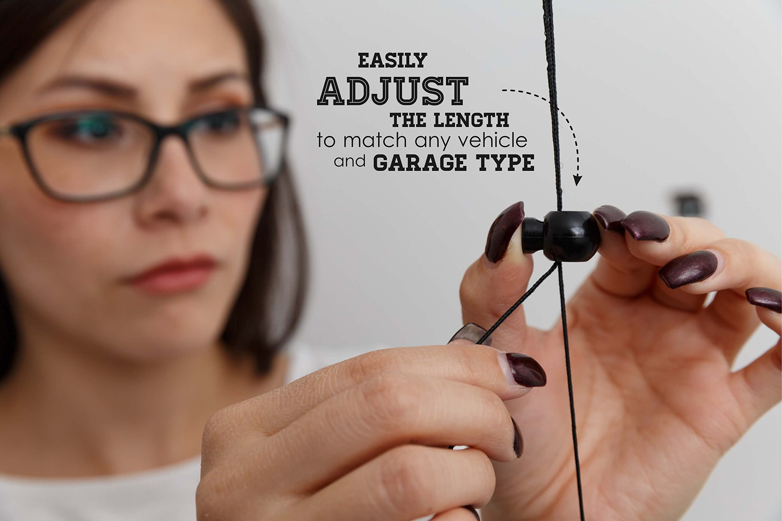 Double Garage Parking Aid - Ball Guide System. Simple to install adjustable parking assistant kit includes a retracting ball sensor assist solution. Perfect Garage Car Stop Indicator for all Vehicles by LetsInnovateLife (Image #4)
