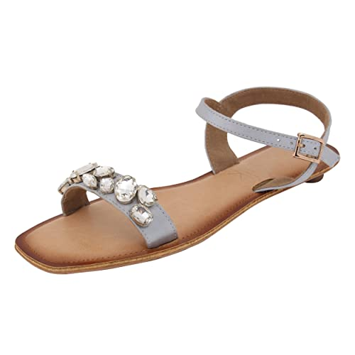 7bb7dcd4569a5 Catwalk Silver Sandals  Buy Online at Low Prices in India - Amazon.in