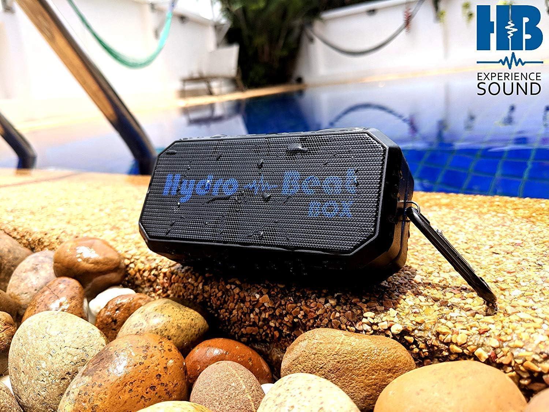 tragbar kann mit jedem Bluetooth-Ger/ät mit Leichtigkeit verbunden werden sto/ßfest Schwarz und blau. Radio-Lautsprecher staubdicht Hydro-Beat 2016 wasserdicht F/ür unterwegs und unter Wasser