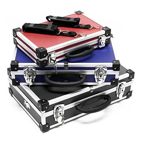 Estuche estuche de aluminio estuche de aluminio cajas de herramientas negro azul rojo