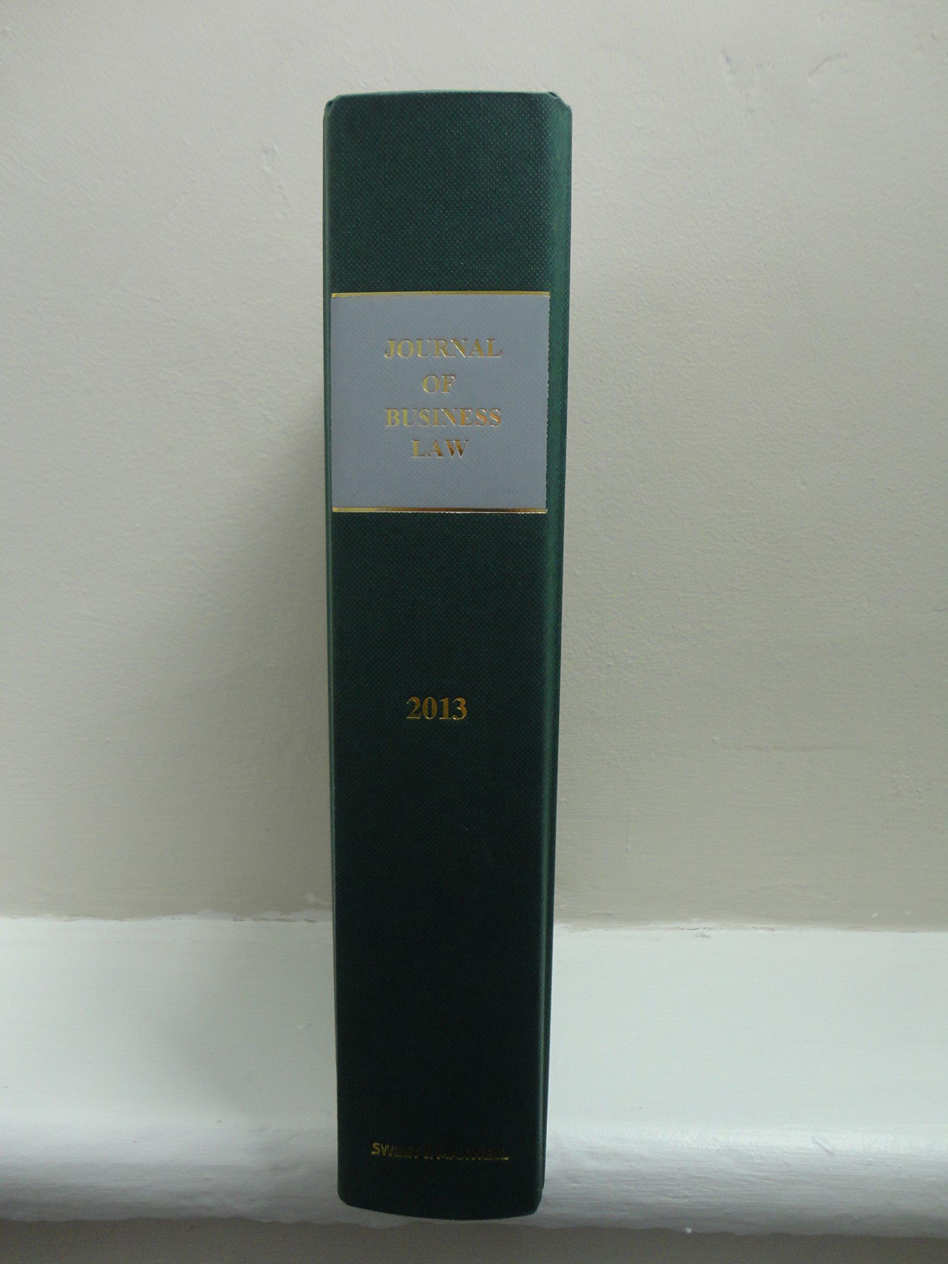 Read Online Journal of Business Law 2013 Bound Volume pdf epub