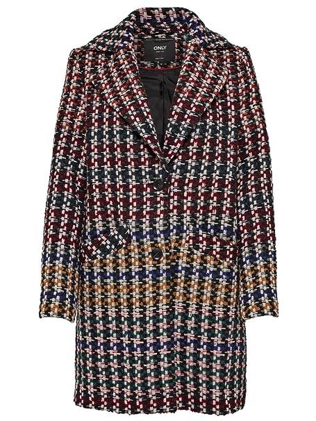 Only Onlmelrose Check Wool Coat Otw, Abrigo para Mujer: Amazon.es: Ropa y accesorios