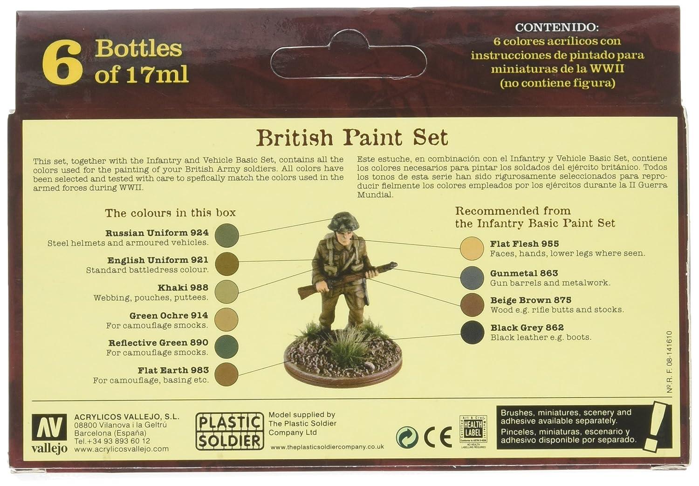 Vallejo Model Color WWII Wargames British Paint Set (Set of 6)