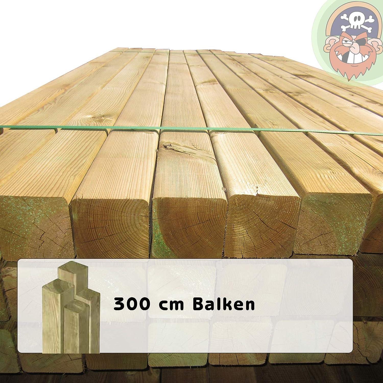 Holzpfosten Zaunpfähle Zaunpfeiler aus Holz 9 x 9 x 210 cm