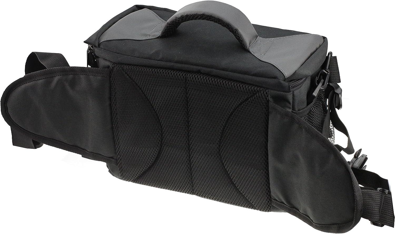 Navitech Black /& Grey Protective Portable Handheld Large Binocular Case Messenger Bag Compatible with The Braun Ultralit Spectiv 20-60 60
