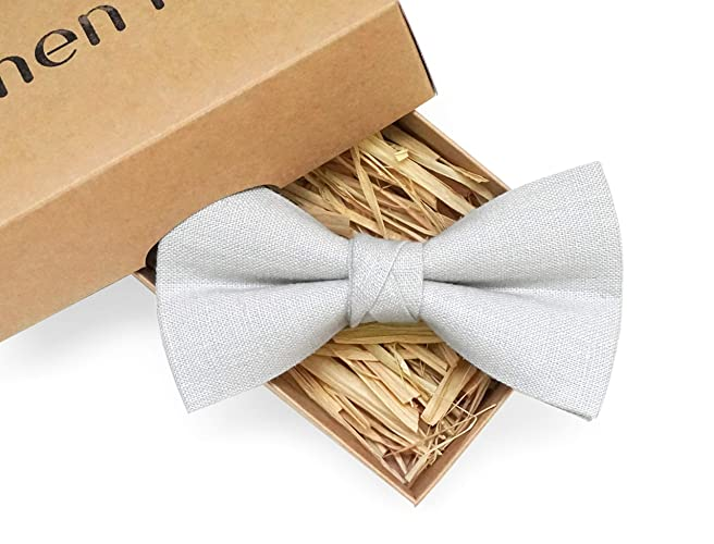 a41c819ced471 Amazon.com: Light grey pre-tied handmade bow ties for men available ...