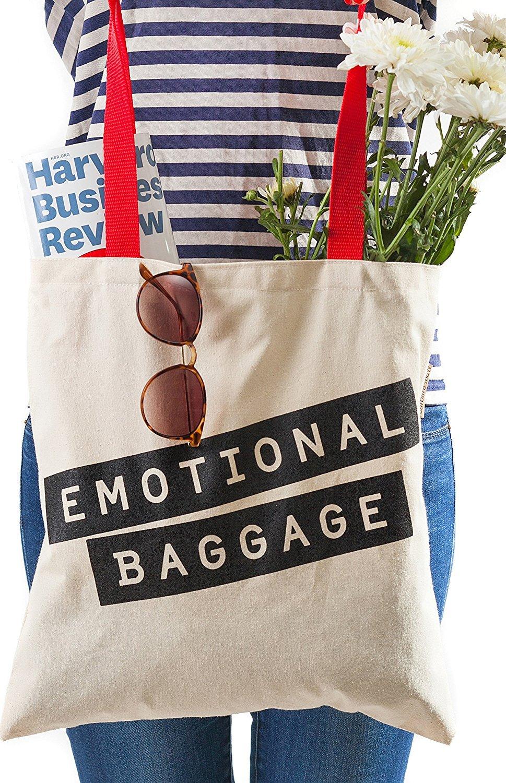 cotton-canvasハンドショルダートートバッグ、ユダヤ人( Emotional Baggage ) Barbara Shawギフト B01N30GAH3