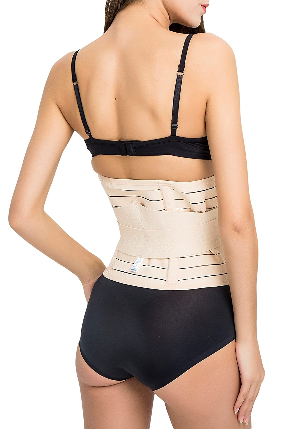 da0280b654 Amazon.com  Capricia O Dare Waist Cincher Workout Waist Trainer Belt with Tummy  Control and Dual Hook and loop fastener Straps Shapewear Girdle  Sports    ...
