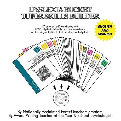 Amazon Dyslexia Rocket Tutor Skills Builder Cd Rom Dyslexia