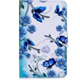 "JIan Ying Galaxy Tab A6 10.1"" Case, Slim PU Leather Stand Folding Tablet Protector Cover Case for Samsung Galaxy Tab A6 10.1"" SM-T580 T585 (Flower butterfly)"