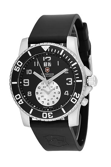 Victorinox 241178 - Reloj analógico de cuarzo para hombre con correa de caucho, color negro