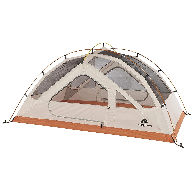 Ozark Trail 4-Season 2-Person Backpacking Tent – Beige Orange