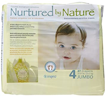 Nurtured by Nature Diapers - Size 4 - 27 ct